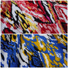 Psychedelic 100% Viscose Fabric Tribal Print- Two Colourways (Per Metre)