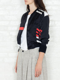 """The Classic Bomber"" 3/4 in Black White and Red"