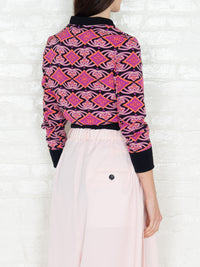 """The Classic Bomber"" 3/4 in Pink Coral Print"