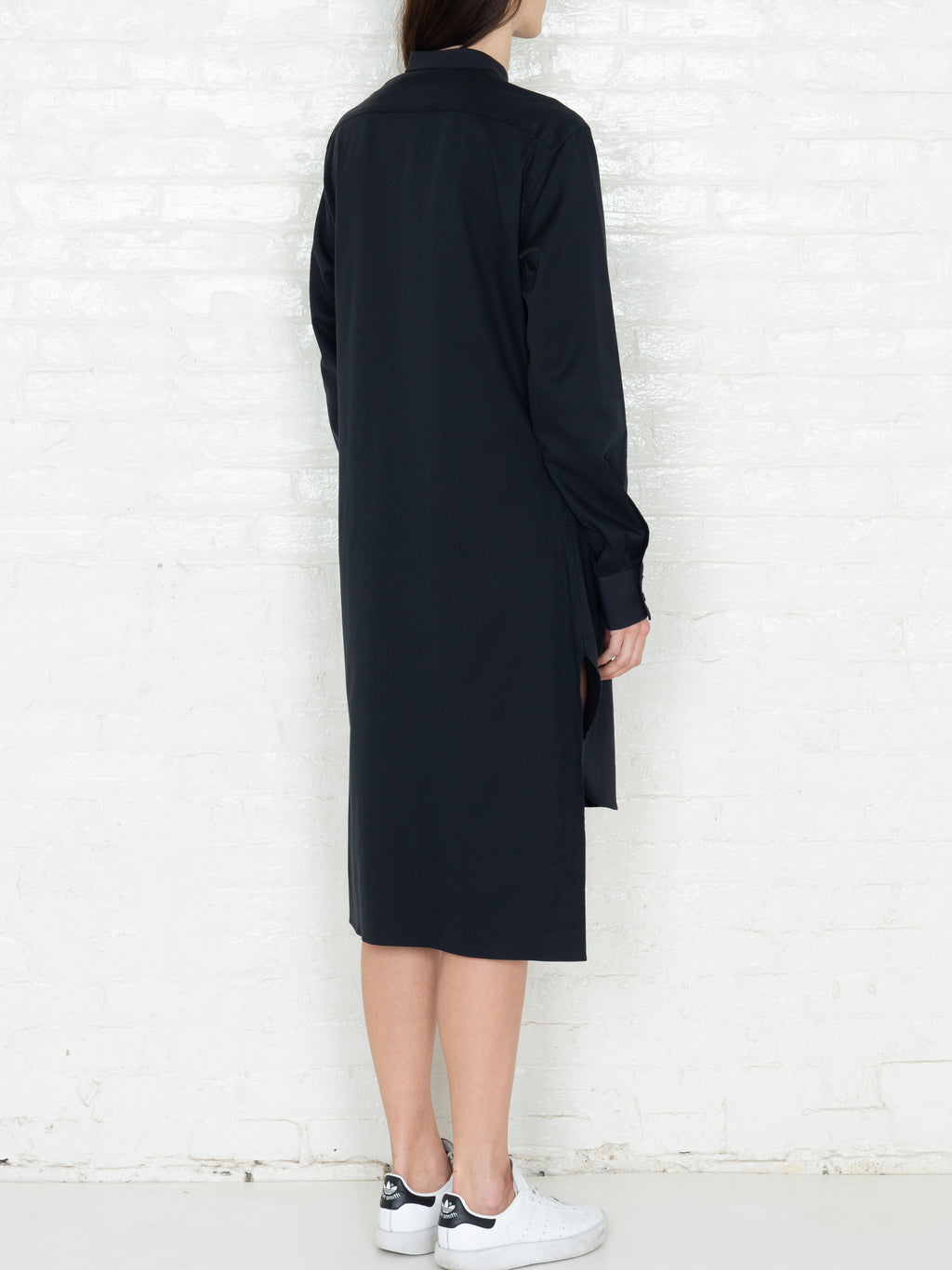 """The Essential"" Long Tunic Shirt in Black"