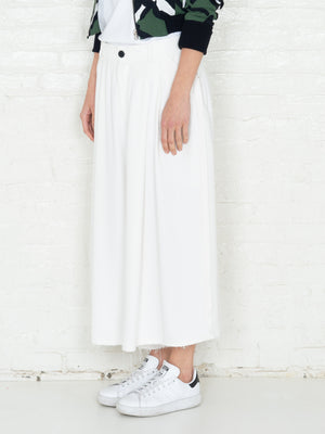 """The Skirt Pant"" in White"