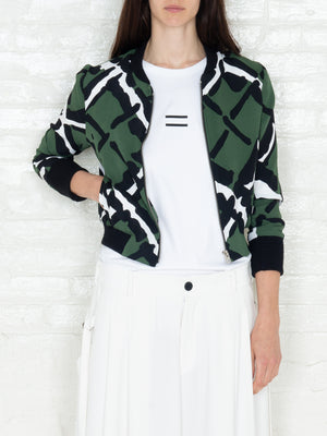 """The Classic Bomber"" 3/4 in Military Print"
