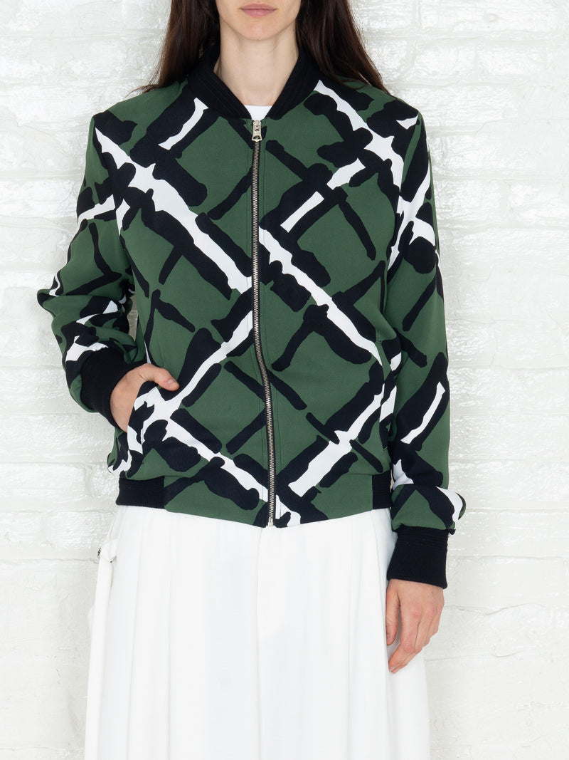 """The Classic Bomber"" in Military Print"