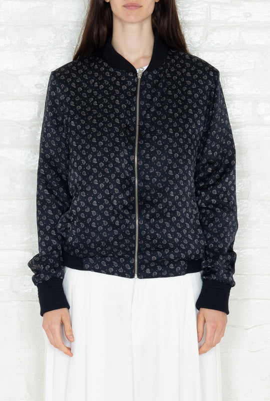 """The Classic Bomber"" in Black and White Print"