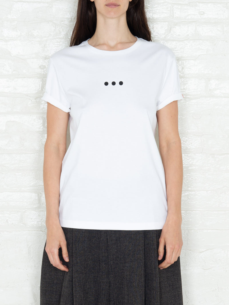 """3 Dots"" T-shirt in White"
