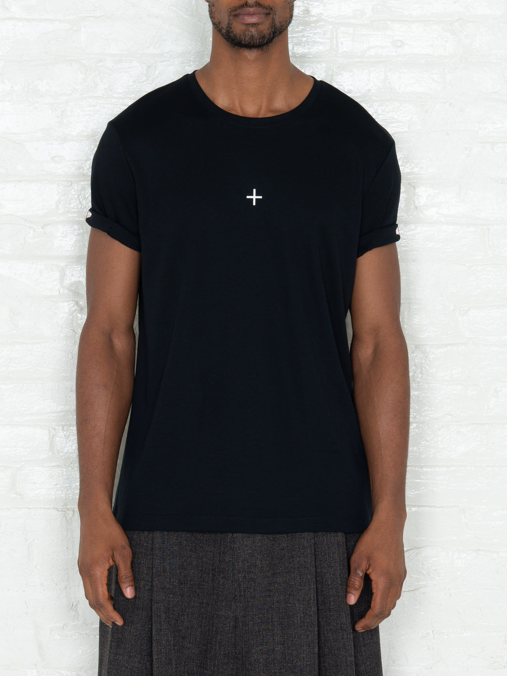 """Plus"" T-shirt in Black"