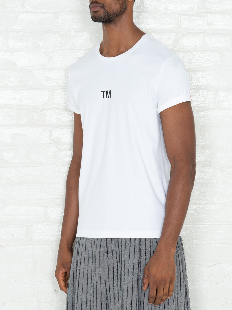 """Trademark"" T-shirt in White"