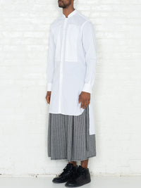 """The Essential"" Tunic Shirt in White"