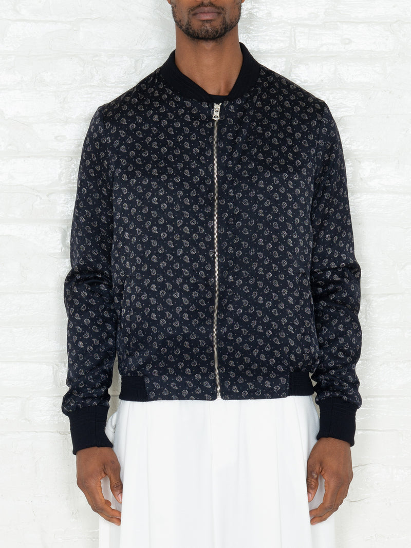 """The Classic Bomber"" in Black & White Print"