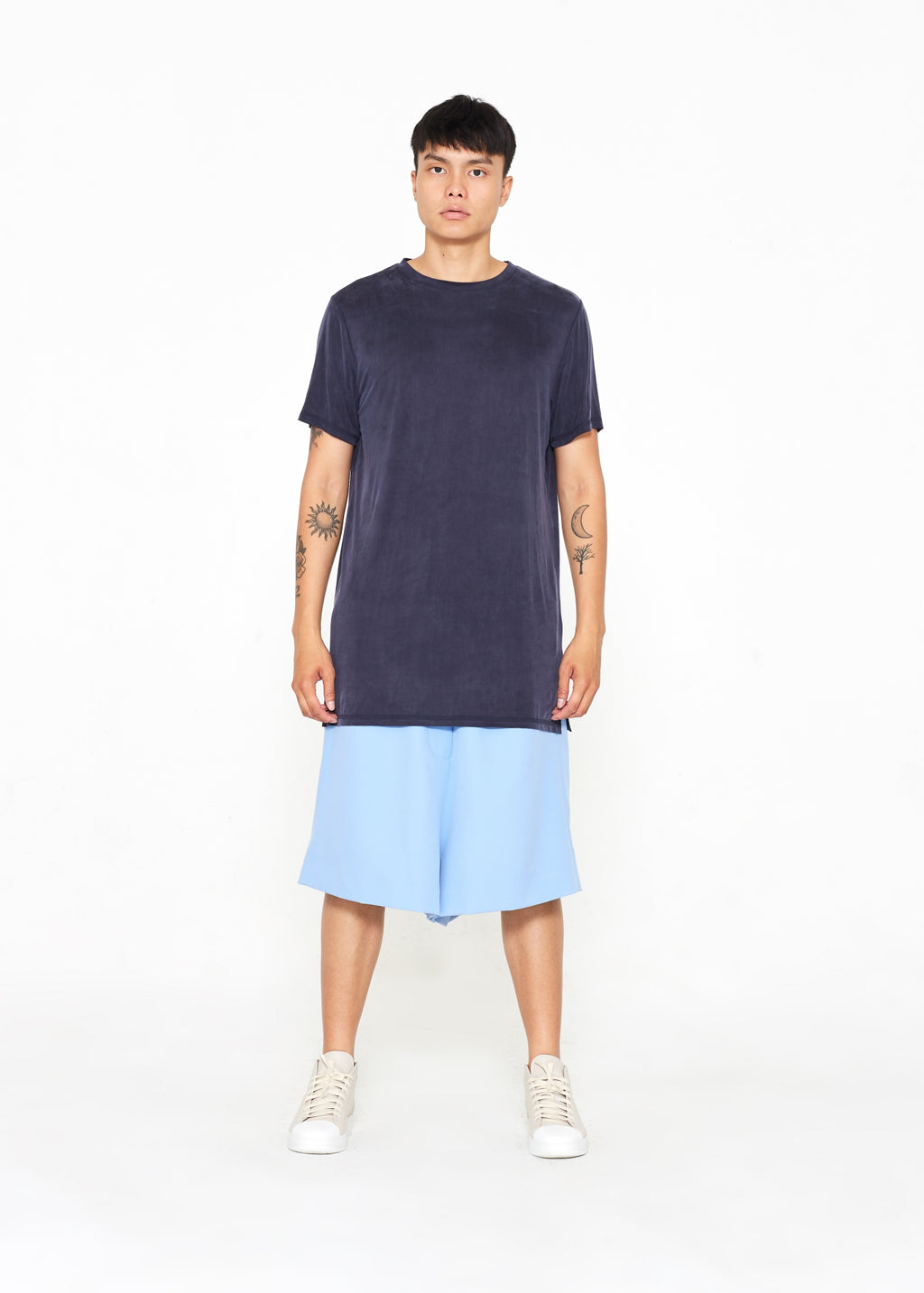 Long Blue Cupro T-shirt