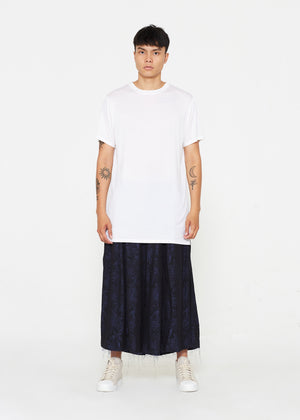 Long White Cupro T-shirt