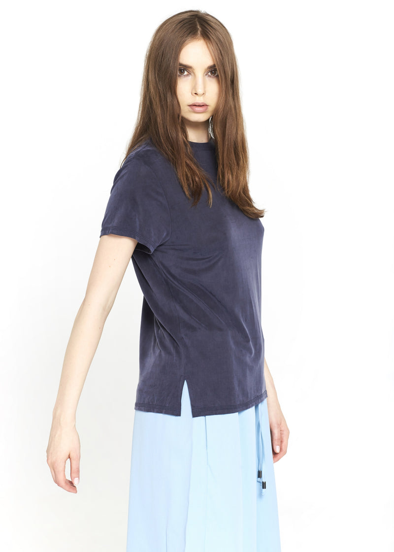 Regular Blue Cupro T-shirt