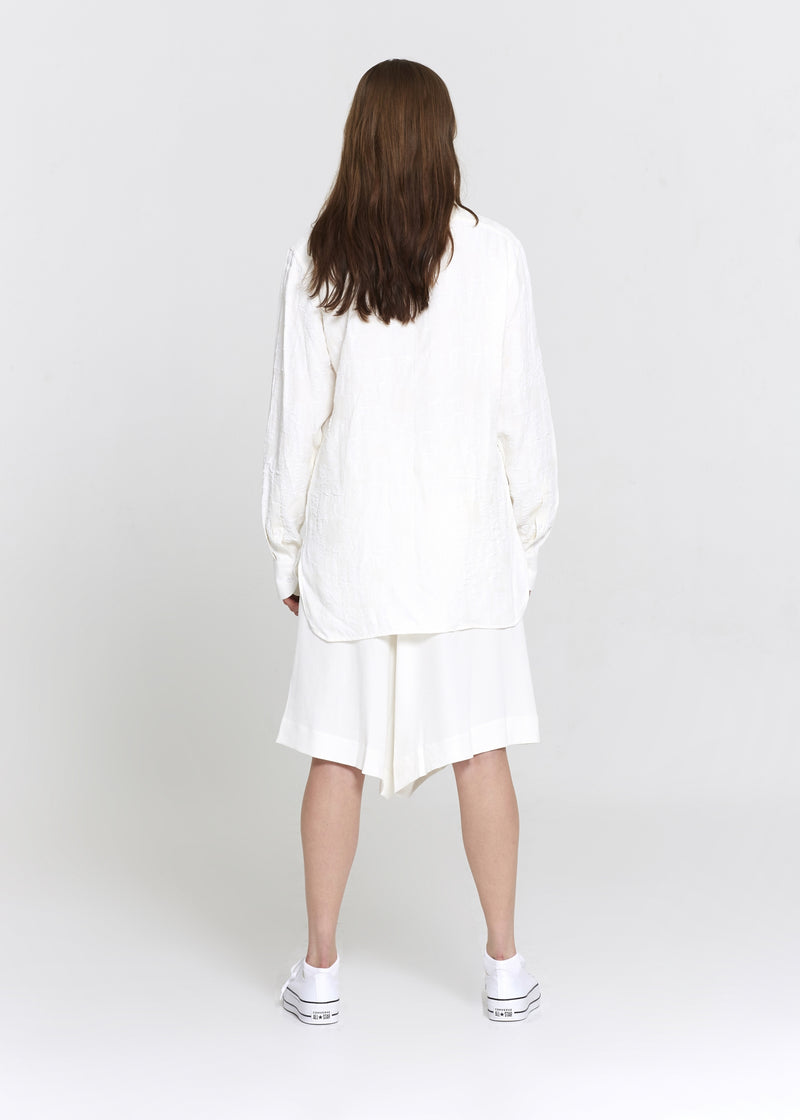 Off-White Cotton Crepe Tunic