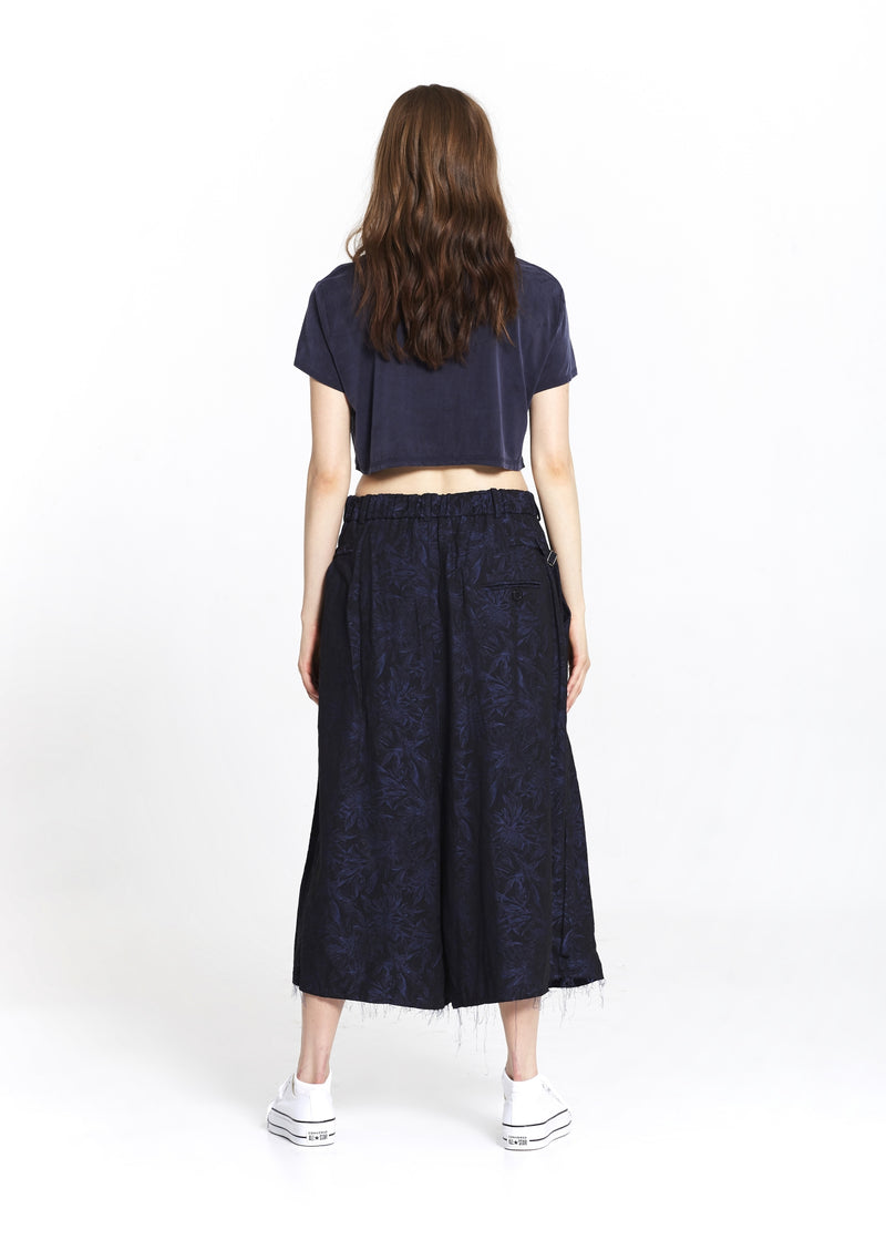 """The Skirt Pant"" in Blue Floral"