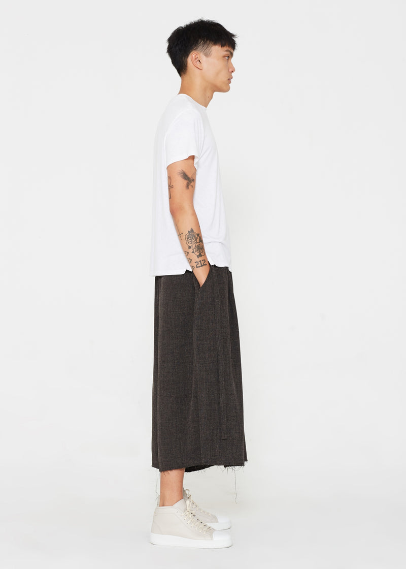 """The Skirt Pant"" in Brown Linen"