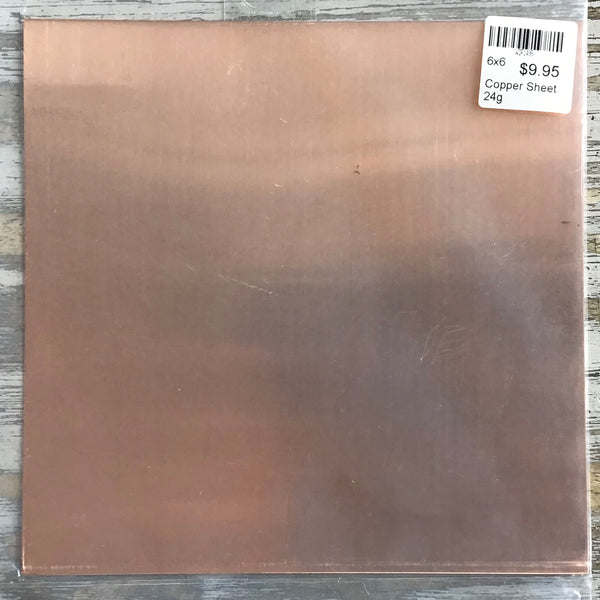 6x6 Copper Sheet 24g