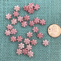 Coral Colored Resin Flower Bead