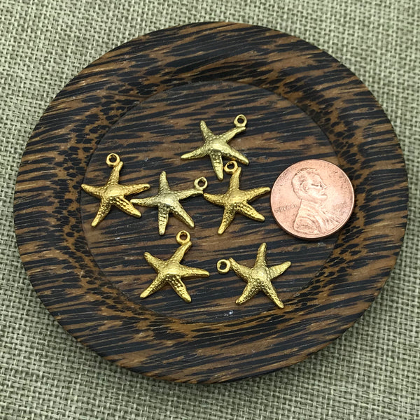 Medium Gold Starfish Charm