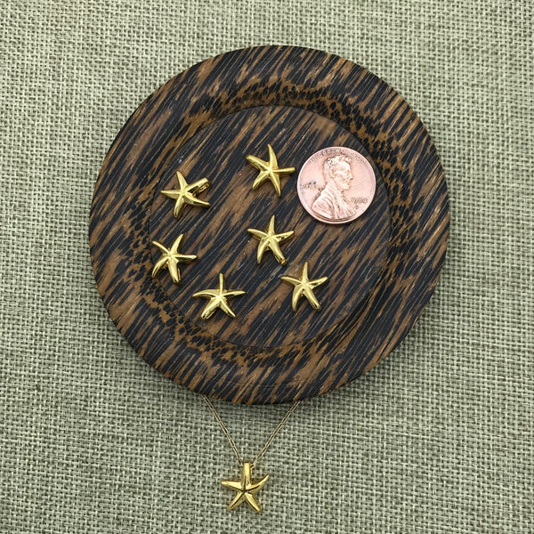Gold Starfish Bead