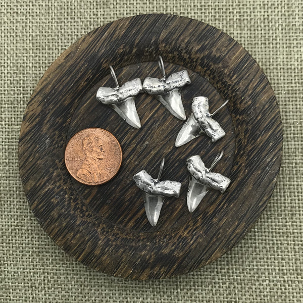 Large Sterling Shark Tooth Charm