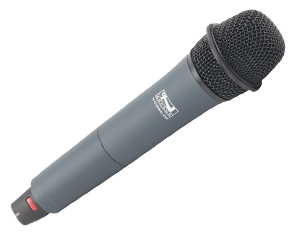 Anchor Audio Wireless Handheld Microphone, 16 Channel UHF (540-570 MHz), WH-8000 - Audio Leaders