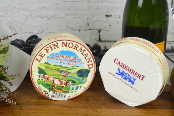 French Camembert on a cheeseboard
