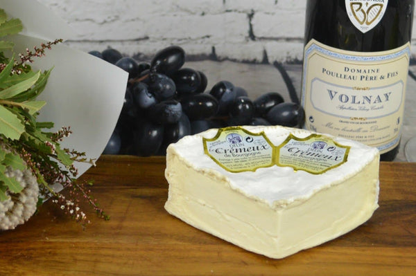 Cremeux deBourgogne French Cheese on a cheeseboard
