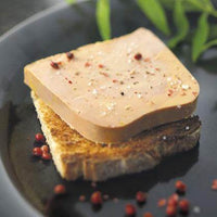 French Duck Foie Gras Mi-cuit sliced on toasted bread