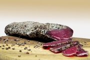 Air dried pork fillet charcuterie crusted in black pepper