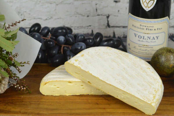Reblochon du Jura French Cheese on a cheeseboard
