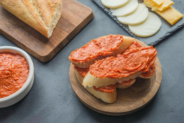 Sobrasada, a spreadable cured Salami flavoured, is a specialty of Majorca in Spain.
