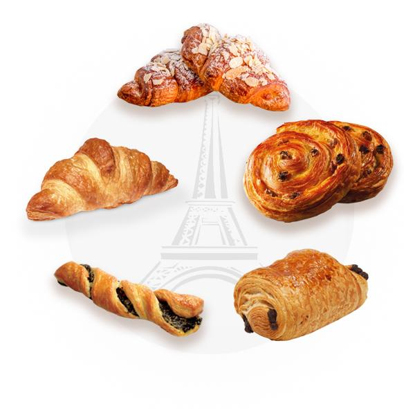French Pastries par-bake (Mix pack of 10)