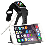 Apple Watch Series 3 / 2 Stand, SPARIN Aluminum Changer Stand Dock Holder with Premium Stylus Pen for All Apple Watch Models and iPhone X / 8 / 8plus, Black
