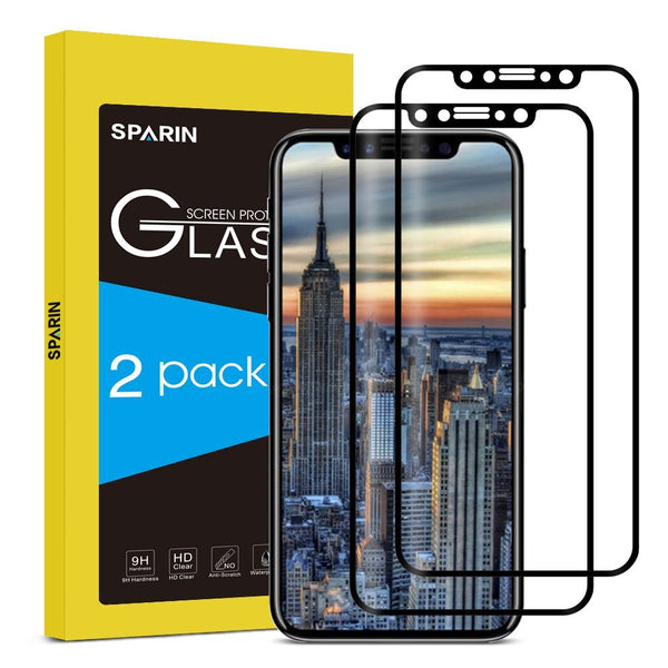 iPhone X Screen Protector [ Tempered Glass] , SPARIN [Explosion-proof] [Easy-Install] 2.5D Glass Screen Protector for iPhone X Edition 2017