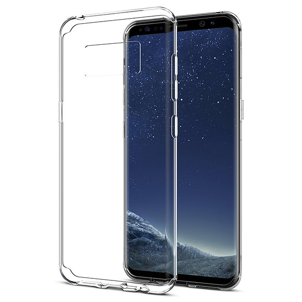 (2 Pack) Sparin Samsung Galaxy S8 Case, [NOT for S8 Plus] for Samsung Galaxy S8 5.8 inch [Crystal Clear TPU] [Soft] [Slim] [Anti-Scratches] [Shock Absorption]