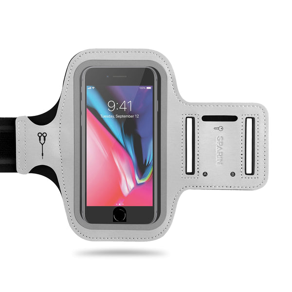 iPhone 8 Armband, Running Armband for iPhone 8 / 7 / 6S / 6 - [Reflective Strip] [Cutout for Home Button] [Key Holder] [Free Extension Band]