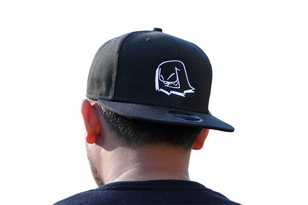 Mr. Fangs Atlanta ghost black New Era snapback hat.