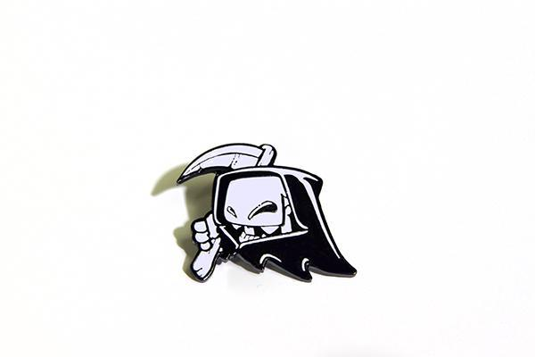 Mr. Fangs Atlanta ghost grim reaper creeper enamel lapel pin.