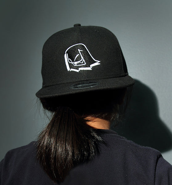Mr. Fangs Atlanta ghost black snapback New Era hat.