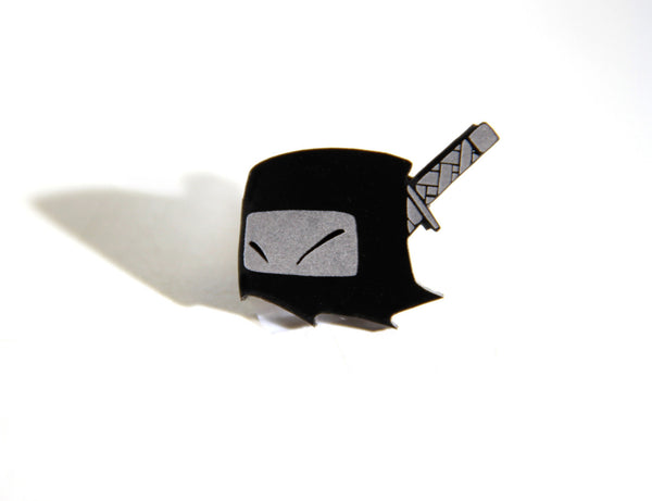 Mr. Fangs Atlanta ghost ninja acrylic pin.