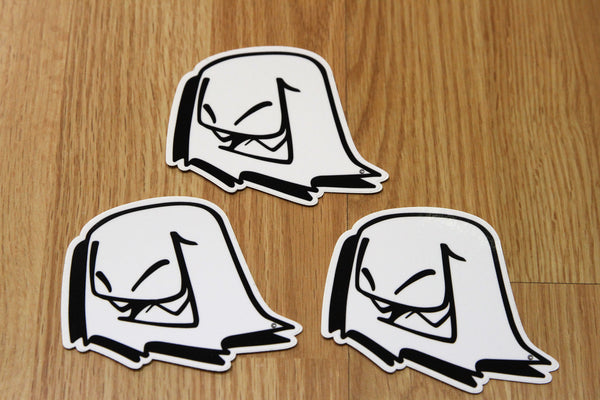 Original Mr. Fangs Atlanta ghost vinyl sticker slap pack.