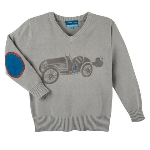Andy & Evan Race Car Sweater Casp Baby