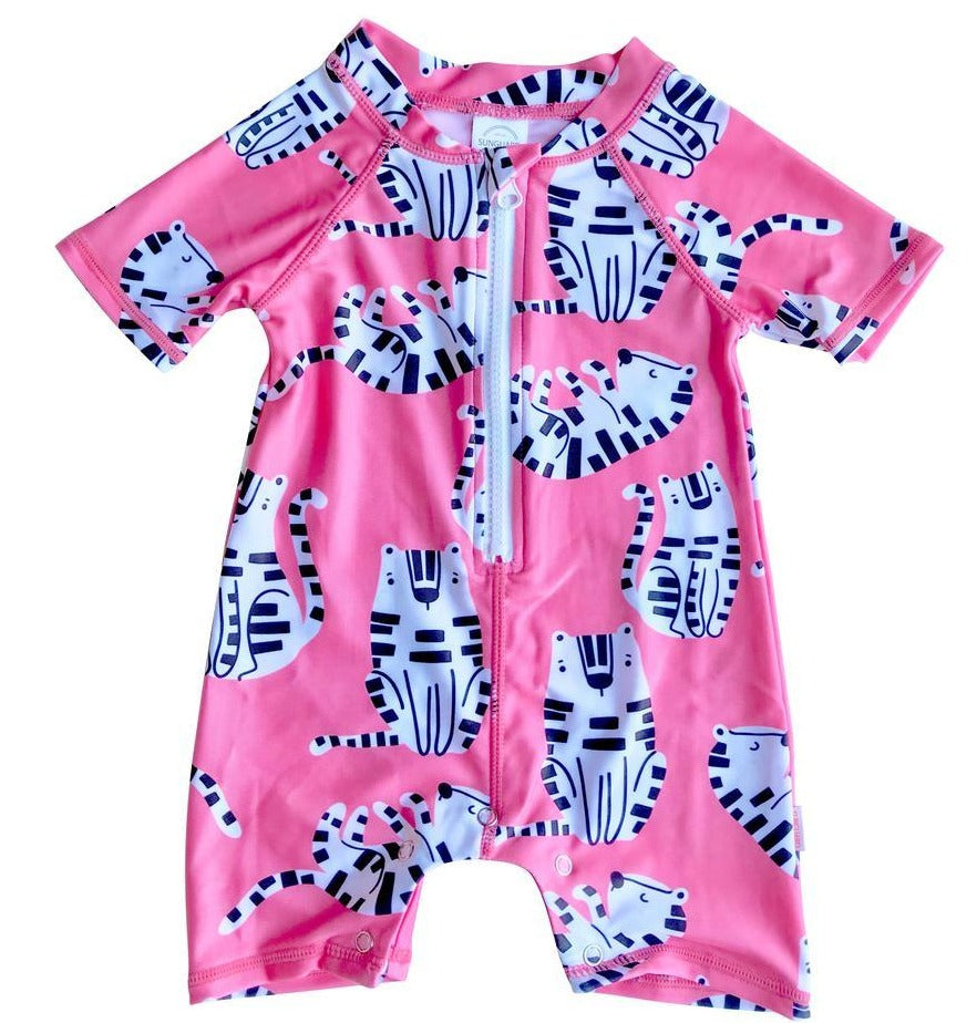Sunguard Swimwear Beau Baby One Piece with Snaps - Tiger