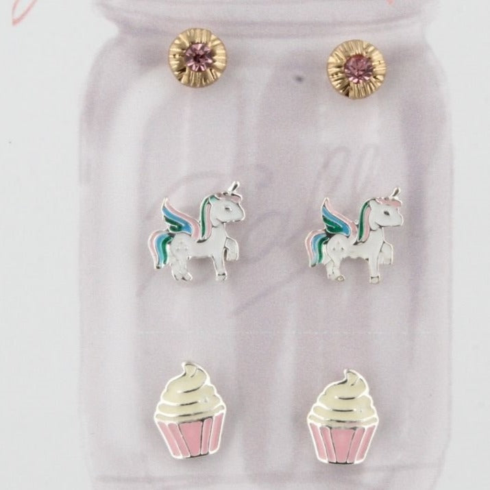 Jane Marie Stud Earrings 3 Pack
