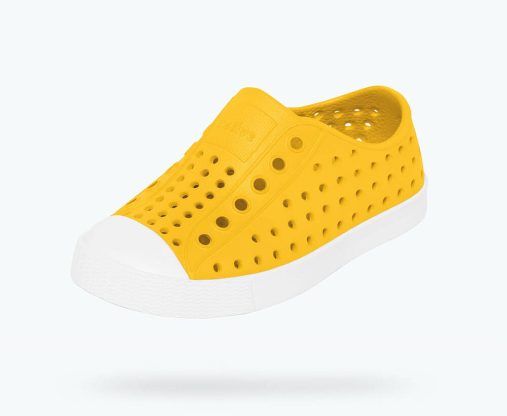 Native Shoes Jefferson - Crayon Yellow / Shell White