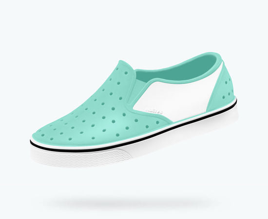 Native Shoes Miles Block - Glass Green / Shell White / Shell Block