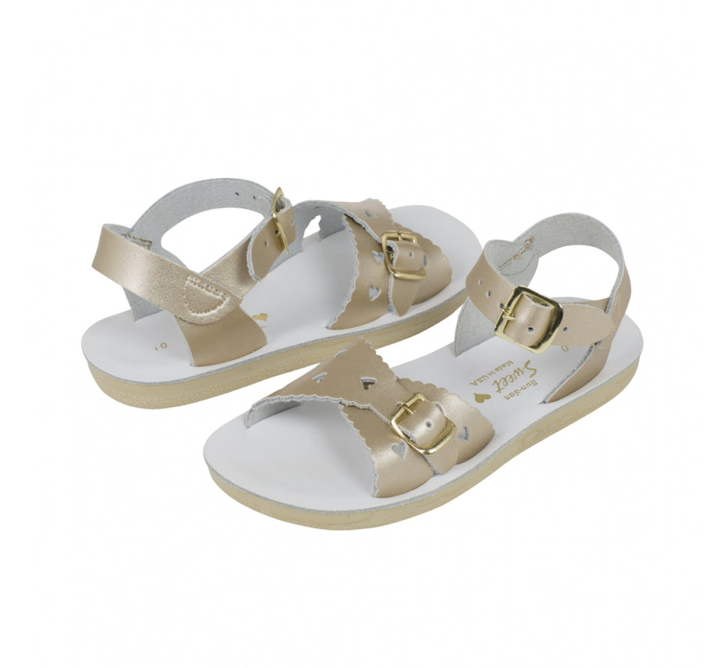 1541bb7c6c75 Sun San Saltwater Sandals Sweetheart - Gold – Casp Baby Mommy   Me Boutique
