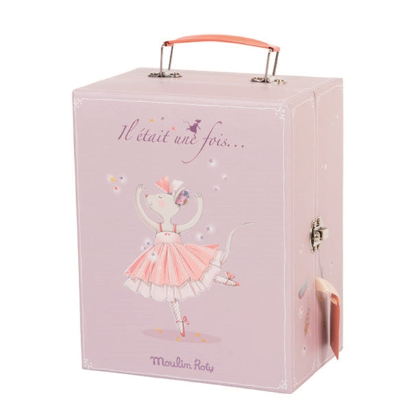 Moulin Roty Ballerina Mouse Valise 8 Piece Set