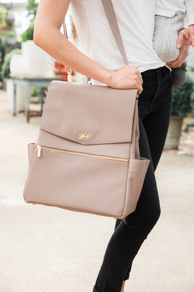 Freshly Picked Classic Backpack Diaper Bag - Mauve