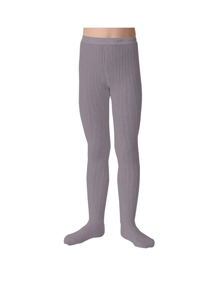 Collegien Ribbed Tights - Glycine Du Japon